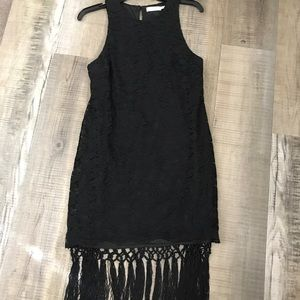 Beautiful Lush lace dress with fringe szS